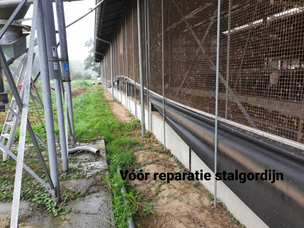 Stalgordijn reparatie - voor